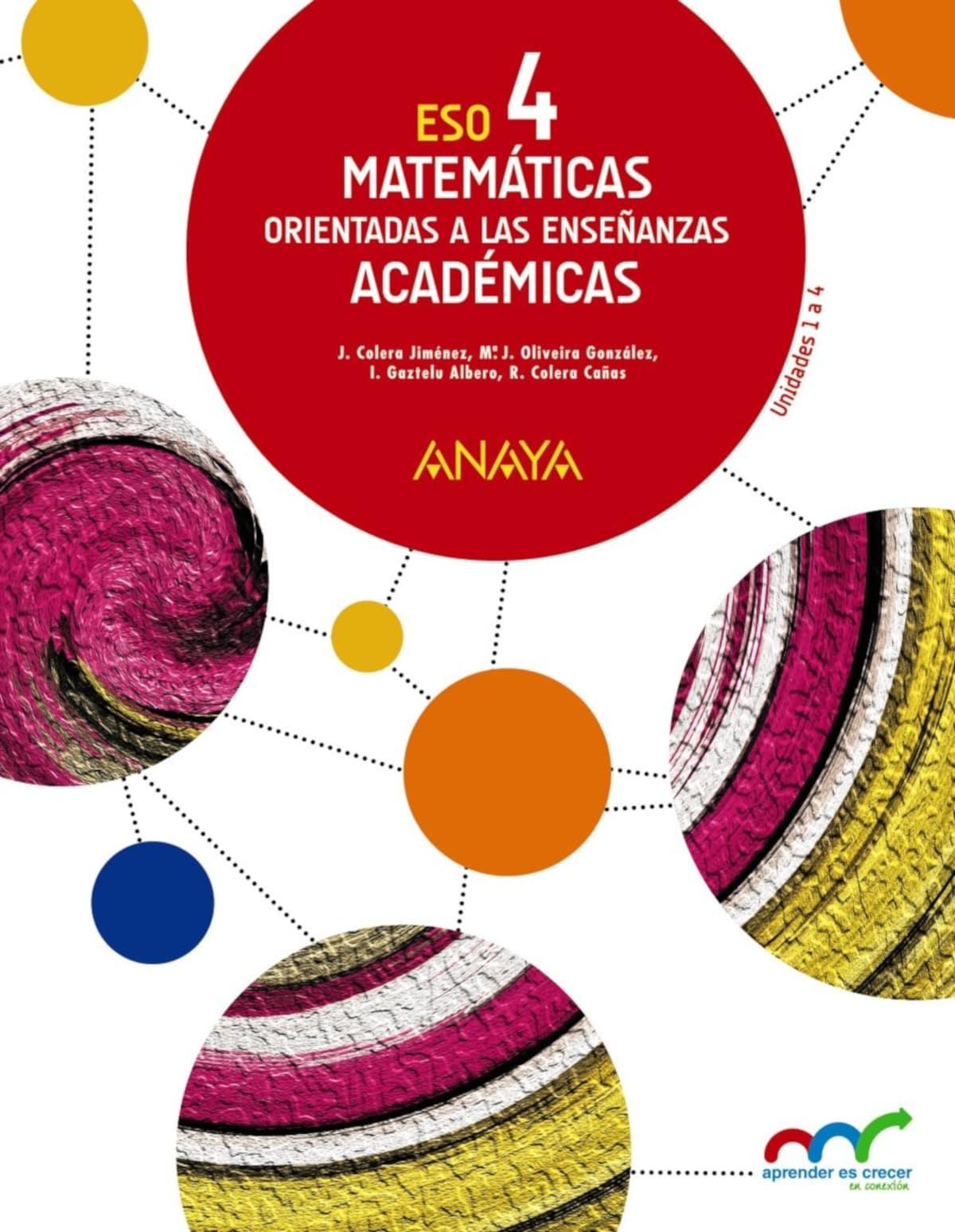 Libros Matemáticas Académicas 4º Eso Recomendados 2021